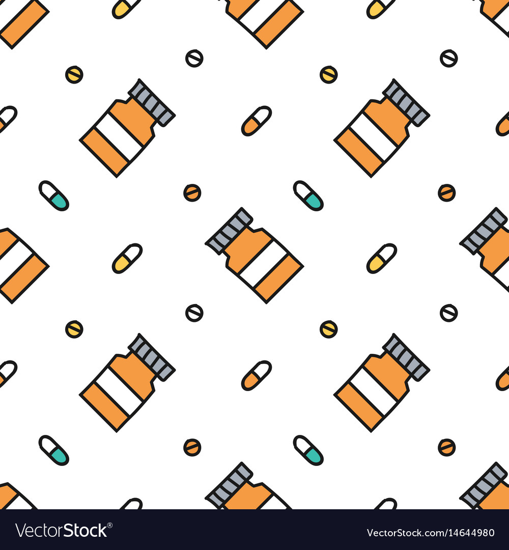 Medical health care seamless pattern background vector image