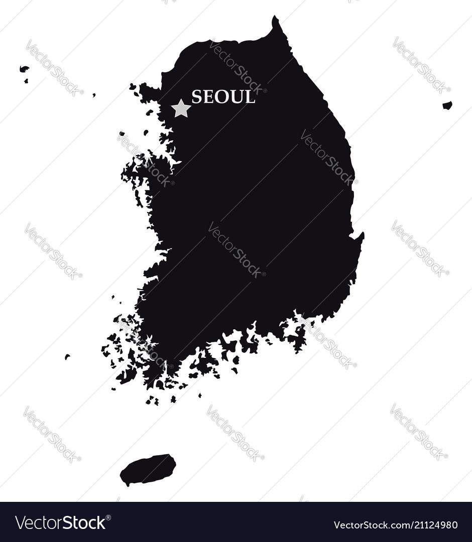 South korea with the capital city of seoul