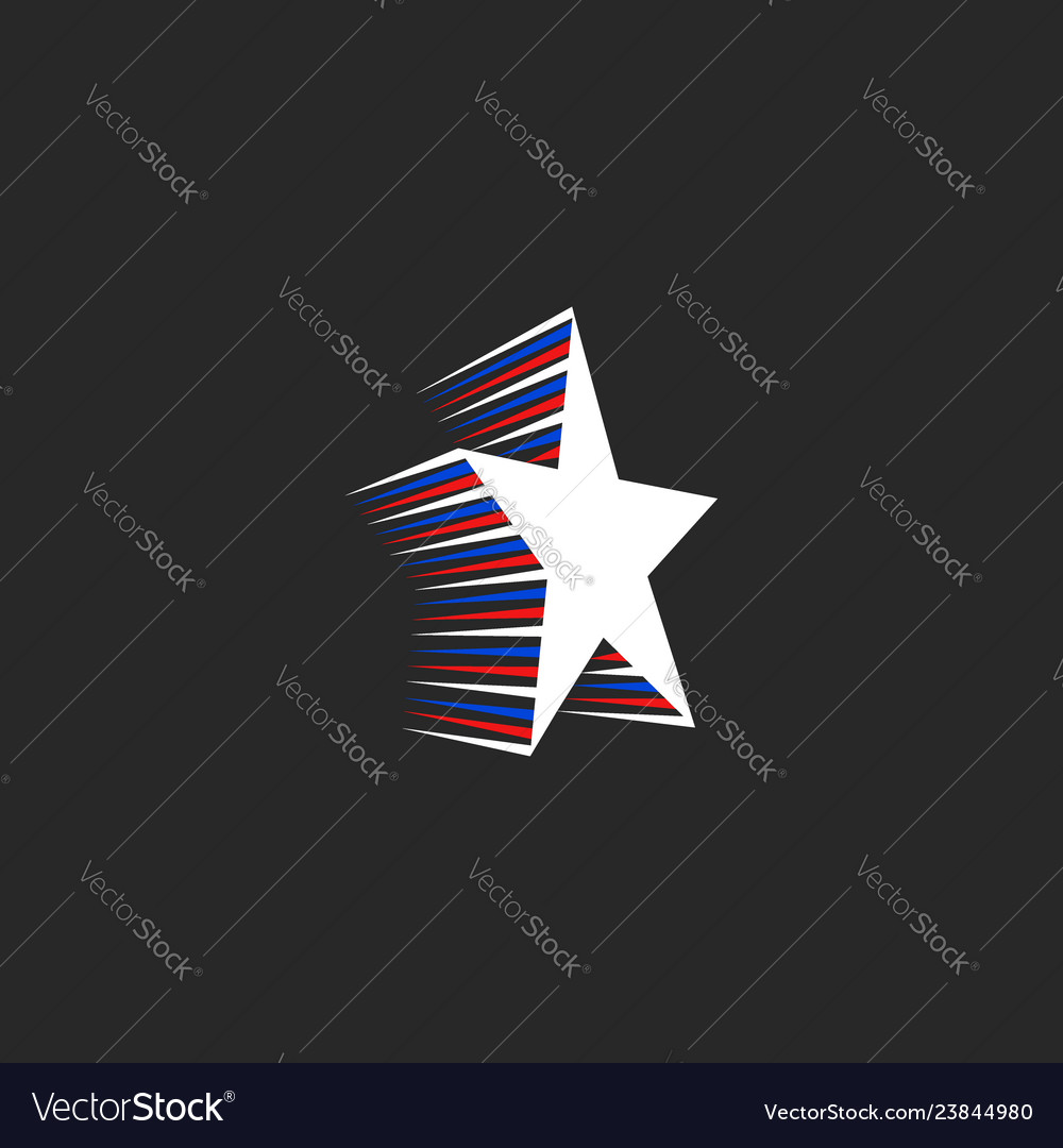 Star logo with motion elements in the patriotic