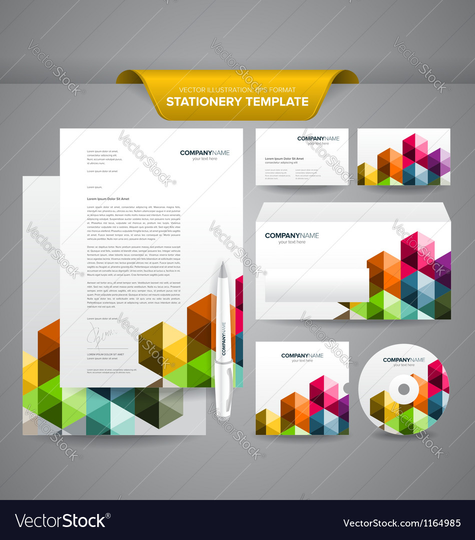 Business stationery template triangles royalty free vector business stationery template triangles vector image cheaphphosting Image collections