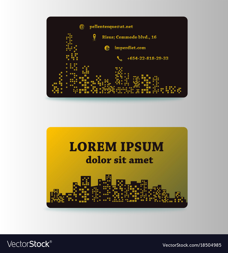 Detailed business cards for cafe and restaurant vector image colourmoves