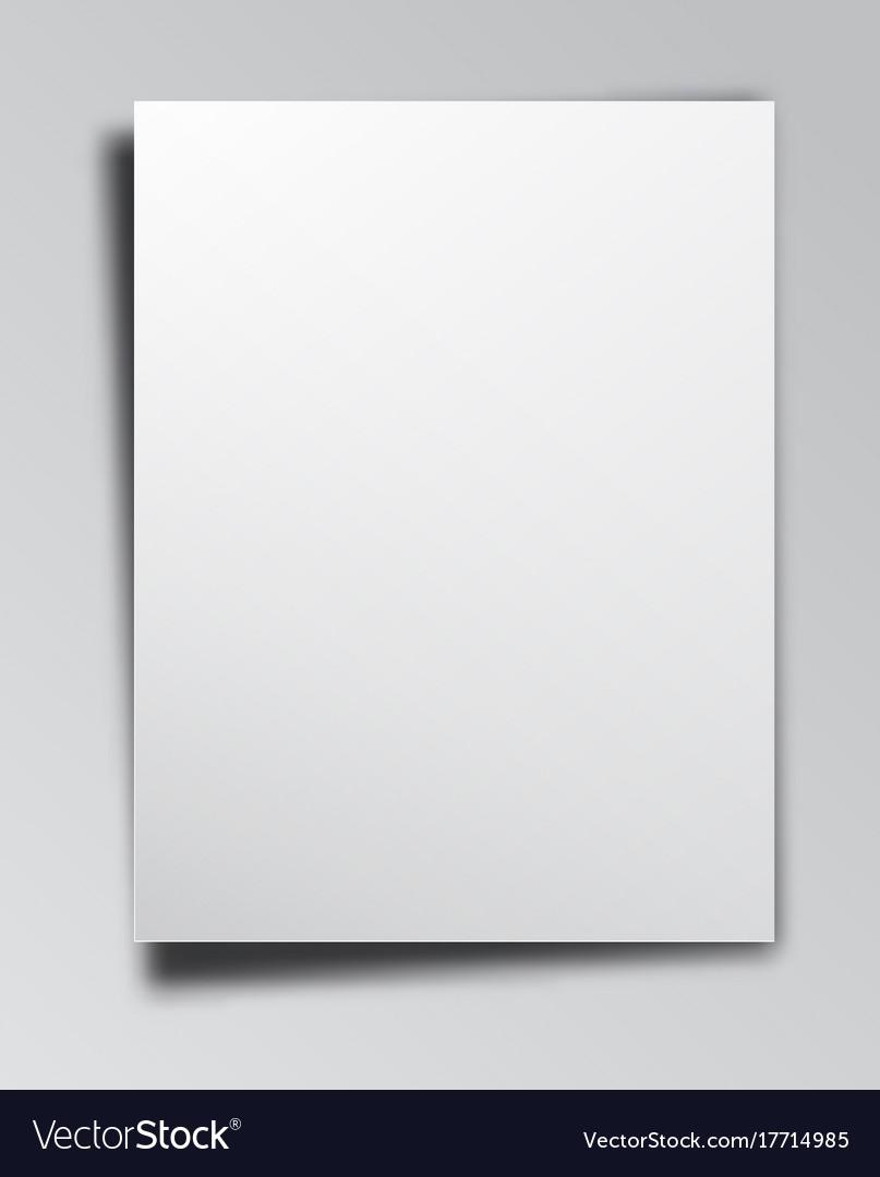 Empty paper background vector image