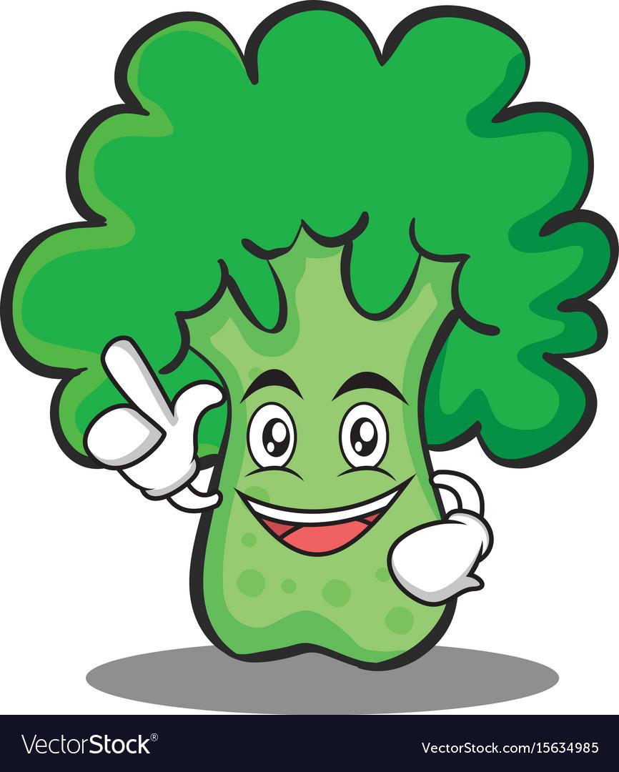 Have an idea broccoli chracter cartoon style