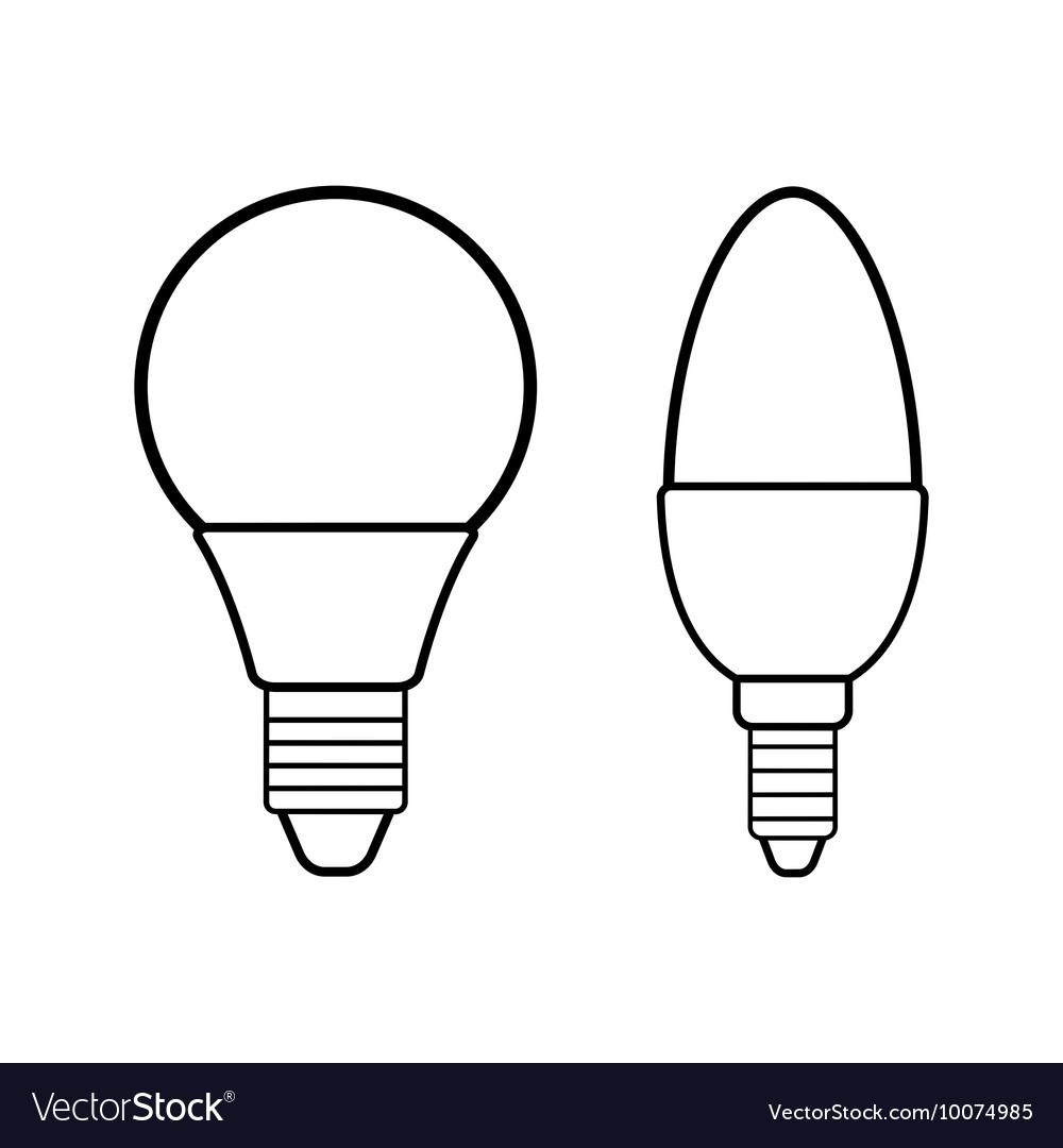 Led bulbs Flat linear icon light bulb Energy