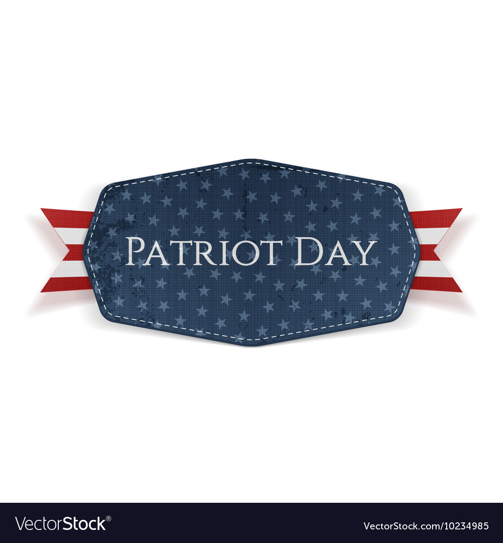 Patriot Day Text on Banner with Ribbon