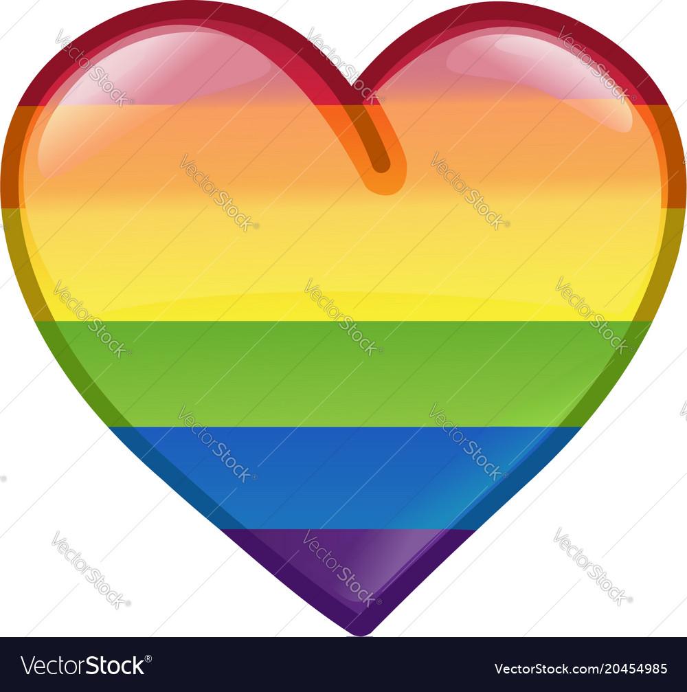 Pride heart icon