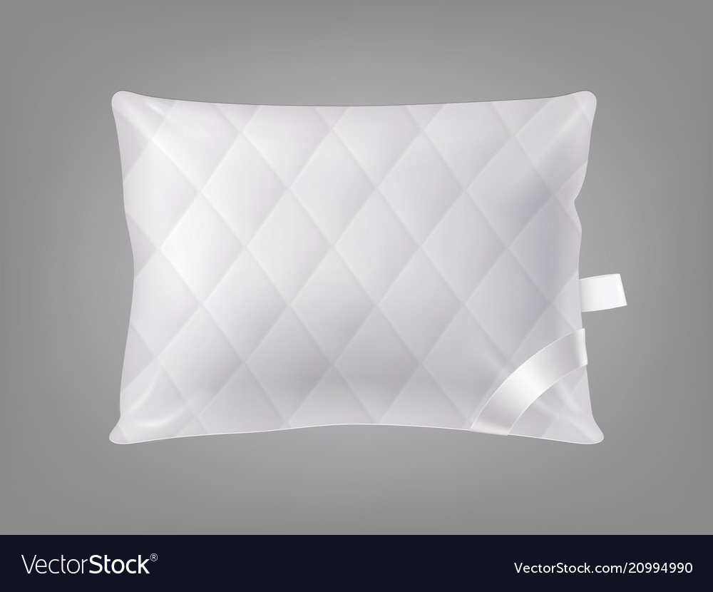 3d realistic square pillow template royalty free vector
