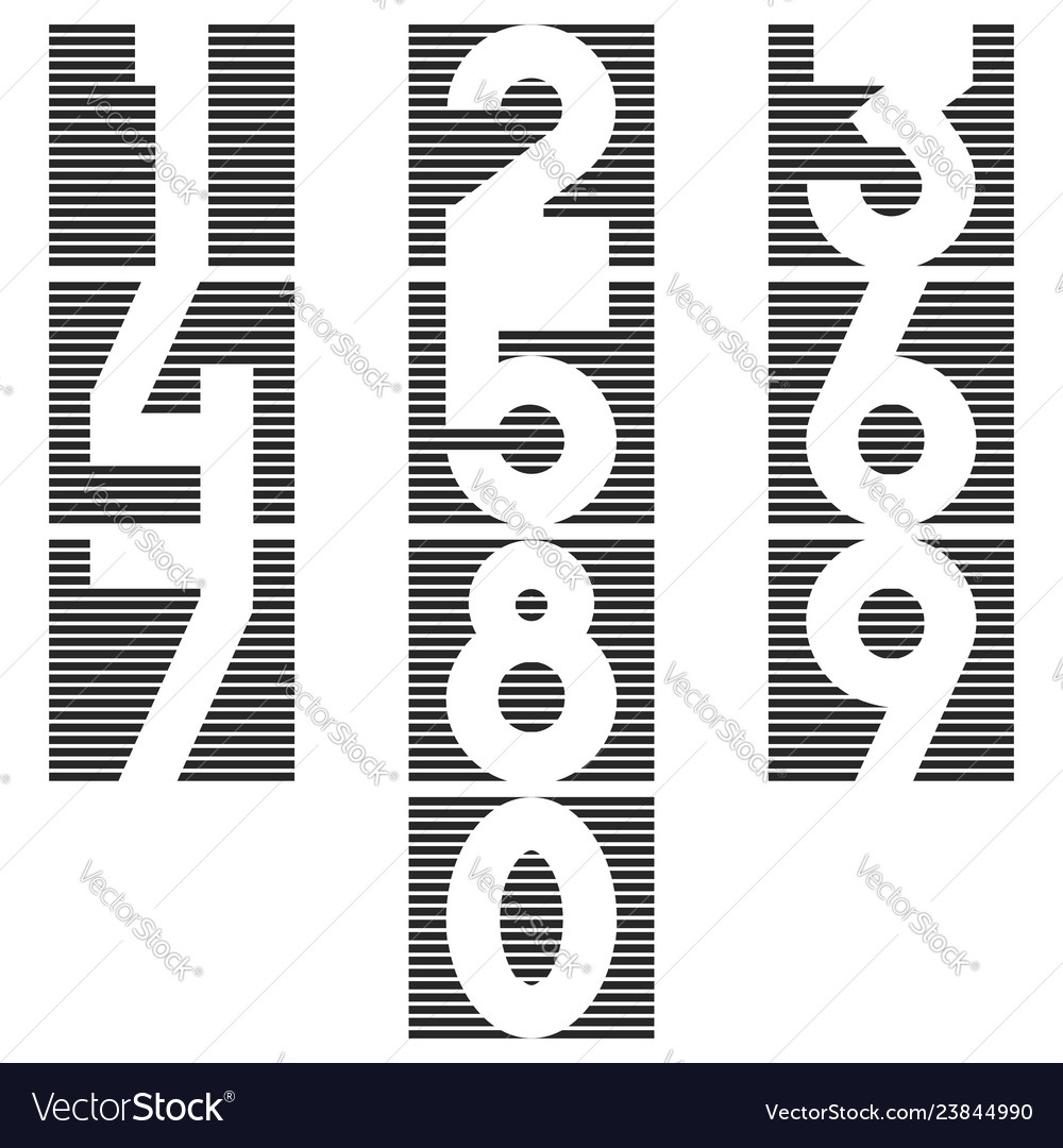 A set of numbers in the form of a square of thin