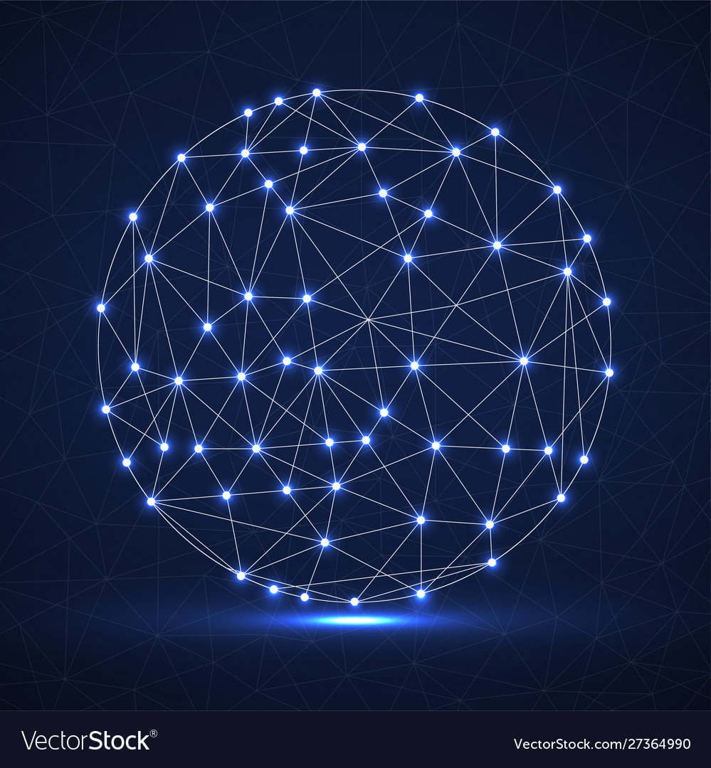 Abstract futuristic globe sphere network
