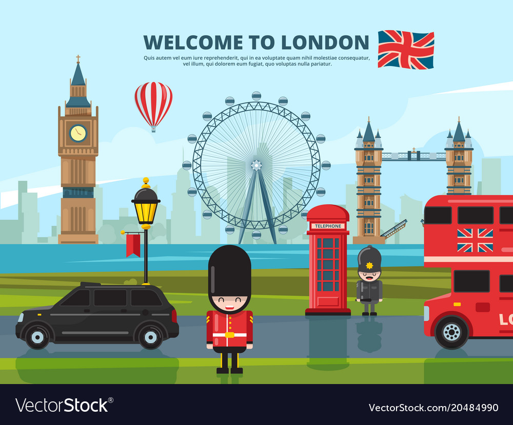 Background with london urban