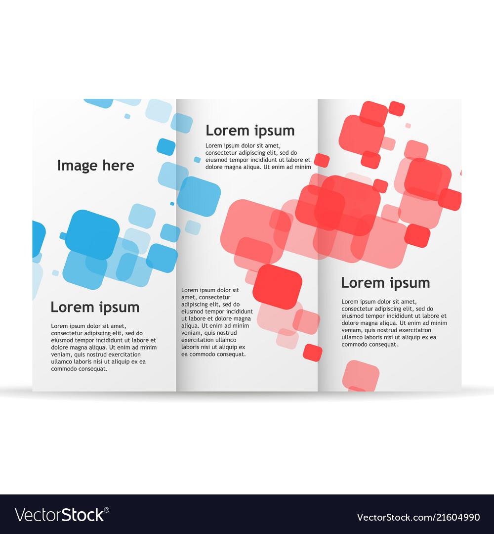 brochure template trifold flyer design mockup vector image