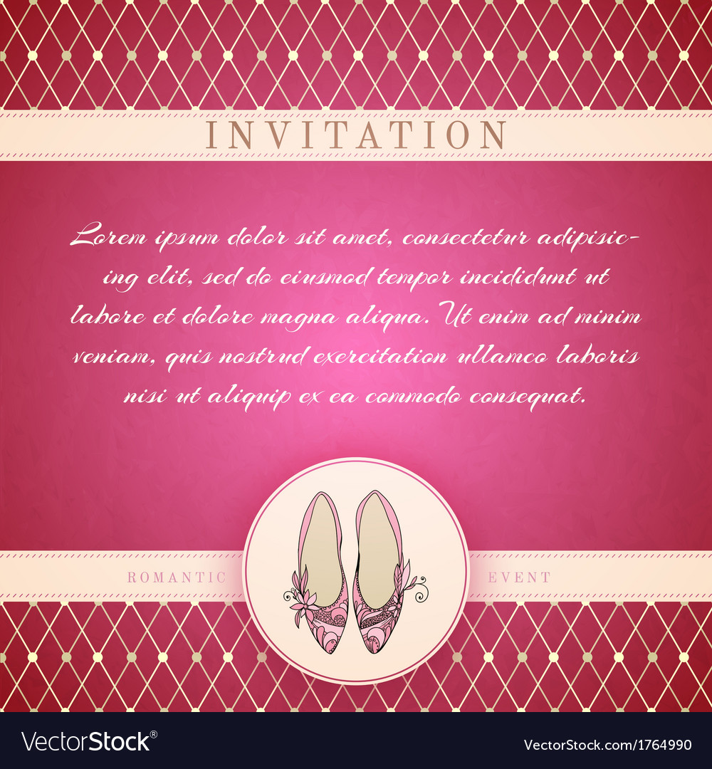 cinderella princess invitation template royalty free vector