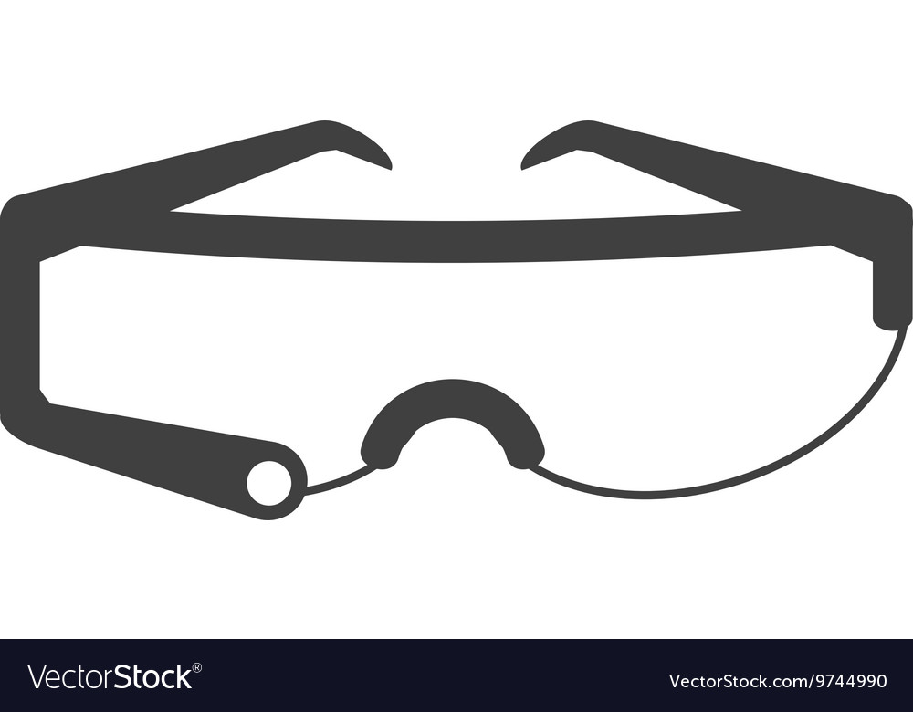 Modern frame glasses icon vector image