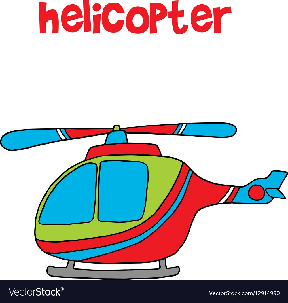 Transportation of helicopter cartoon for kids
