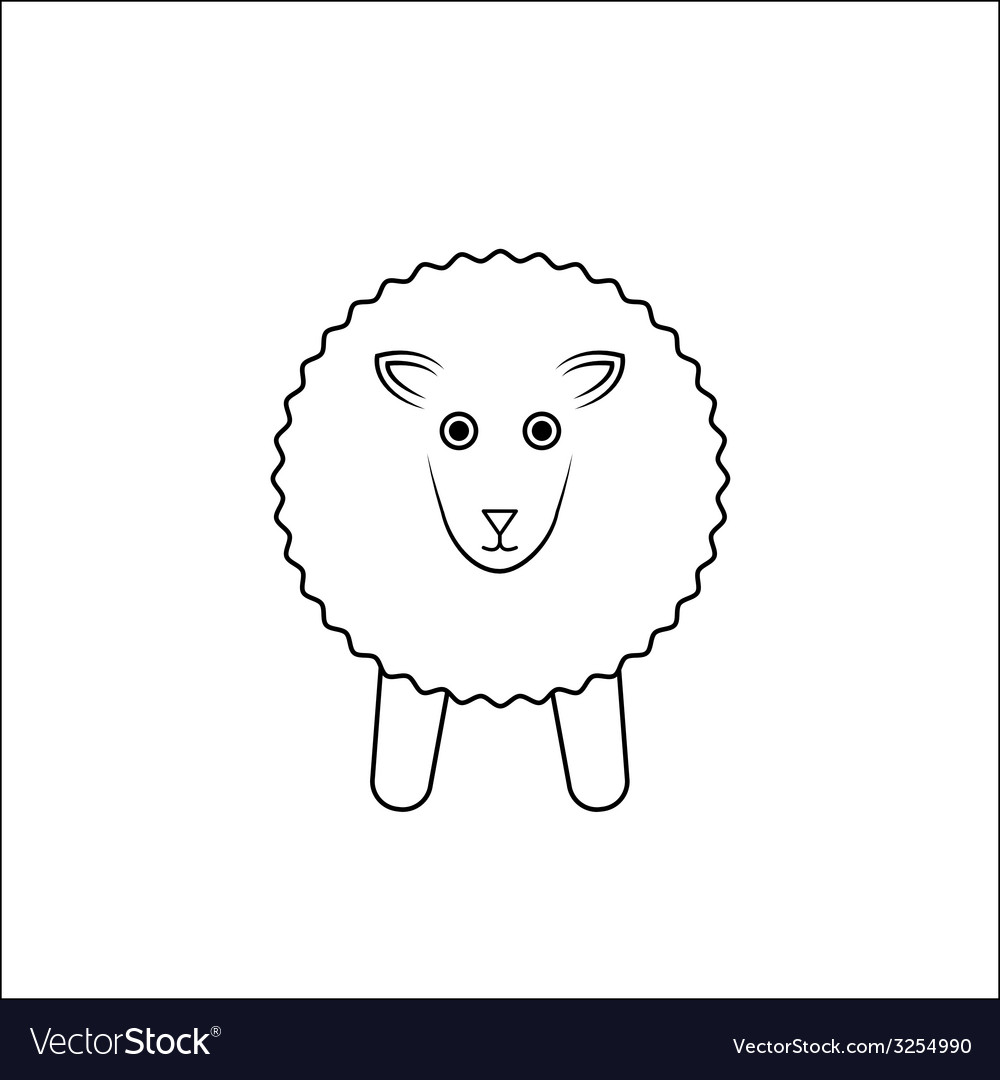 White sheep outline