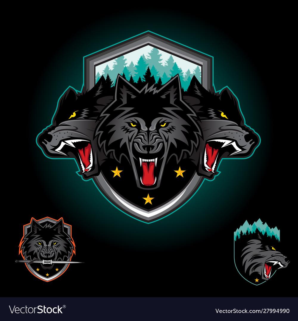 Wolf pack emblem logo