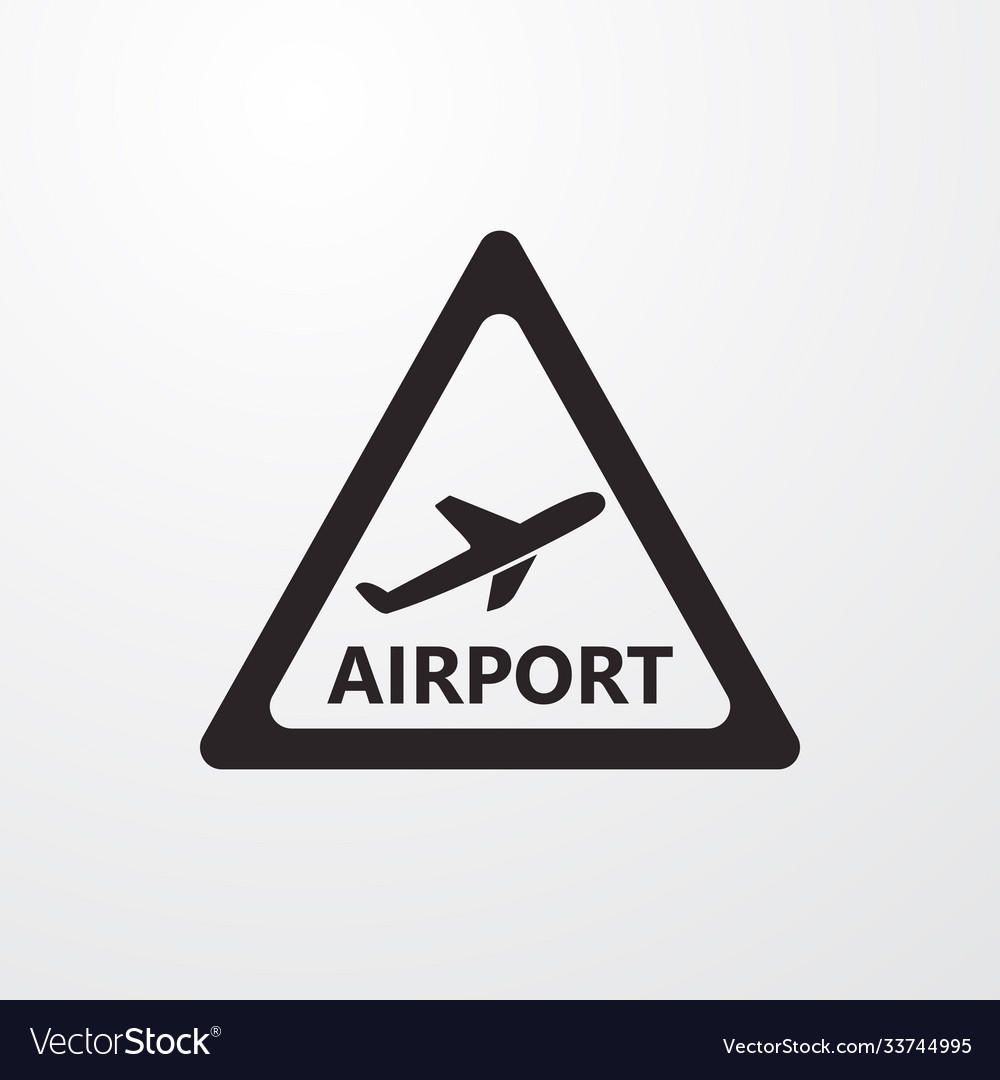 Airport sign icon symbol flat icon flat