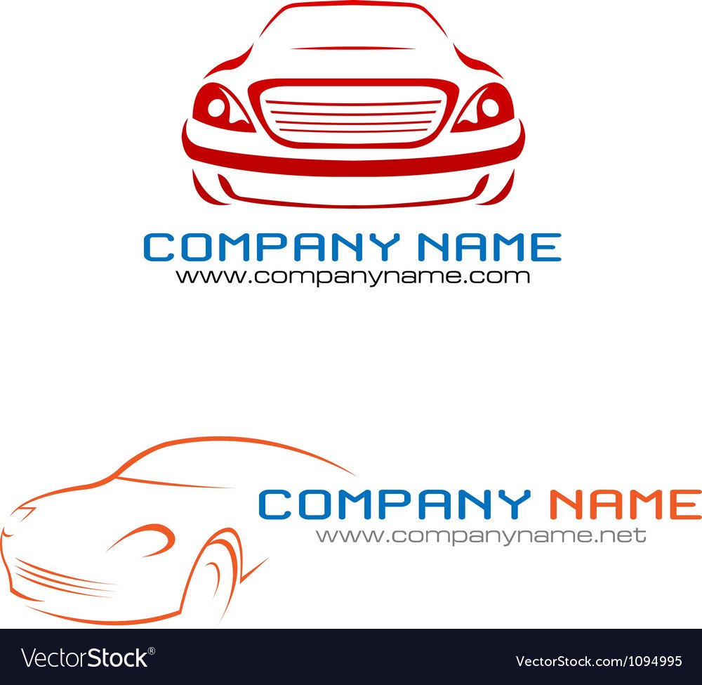 Car Company Logo Royalty Free Vector Image Vectorstock