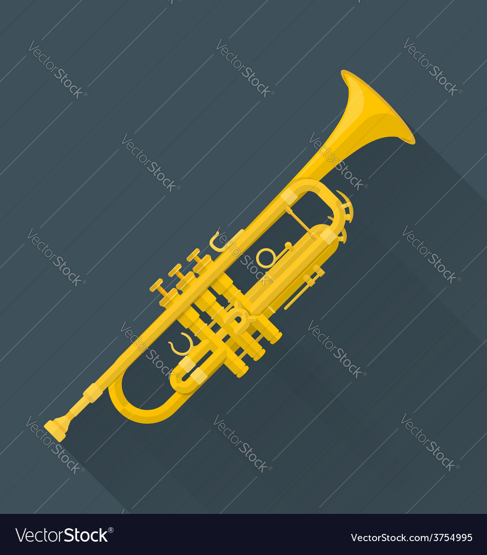 Color flat style trumpet