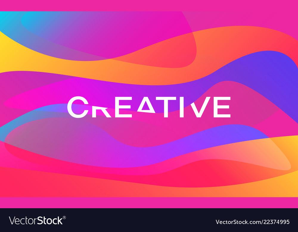 Creative color shapes design modern colorful