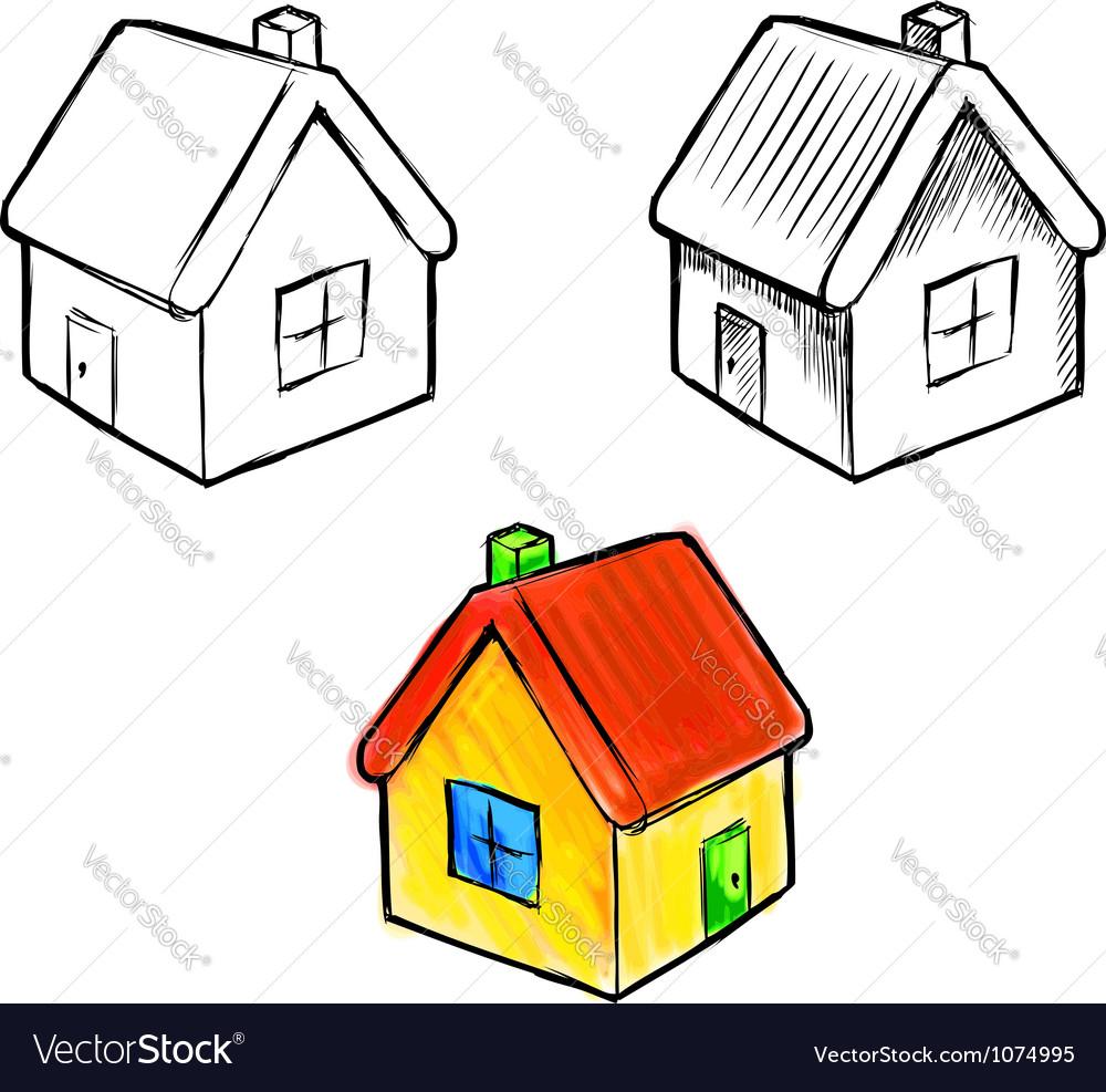 Cute little house sketch