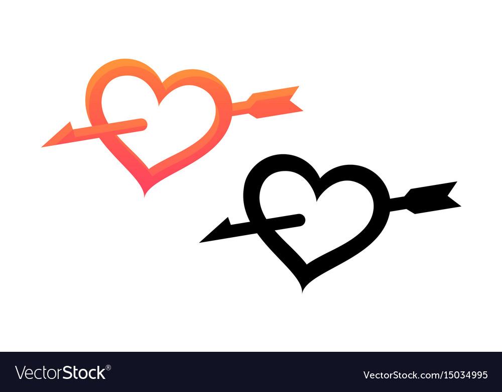 Emblem of valentine day vector image