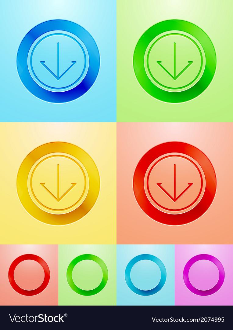 Flat circle button design