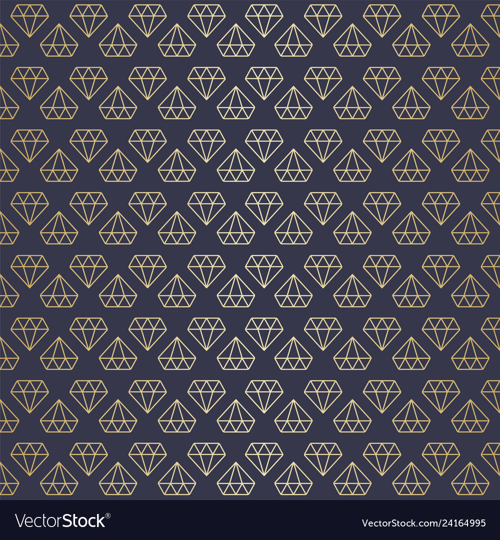 Seamless high premium gold diamond pattern