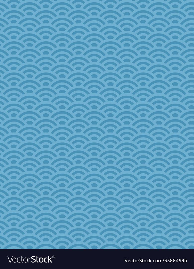 Seamless traditional japanese seigaiha ocean wave