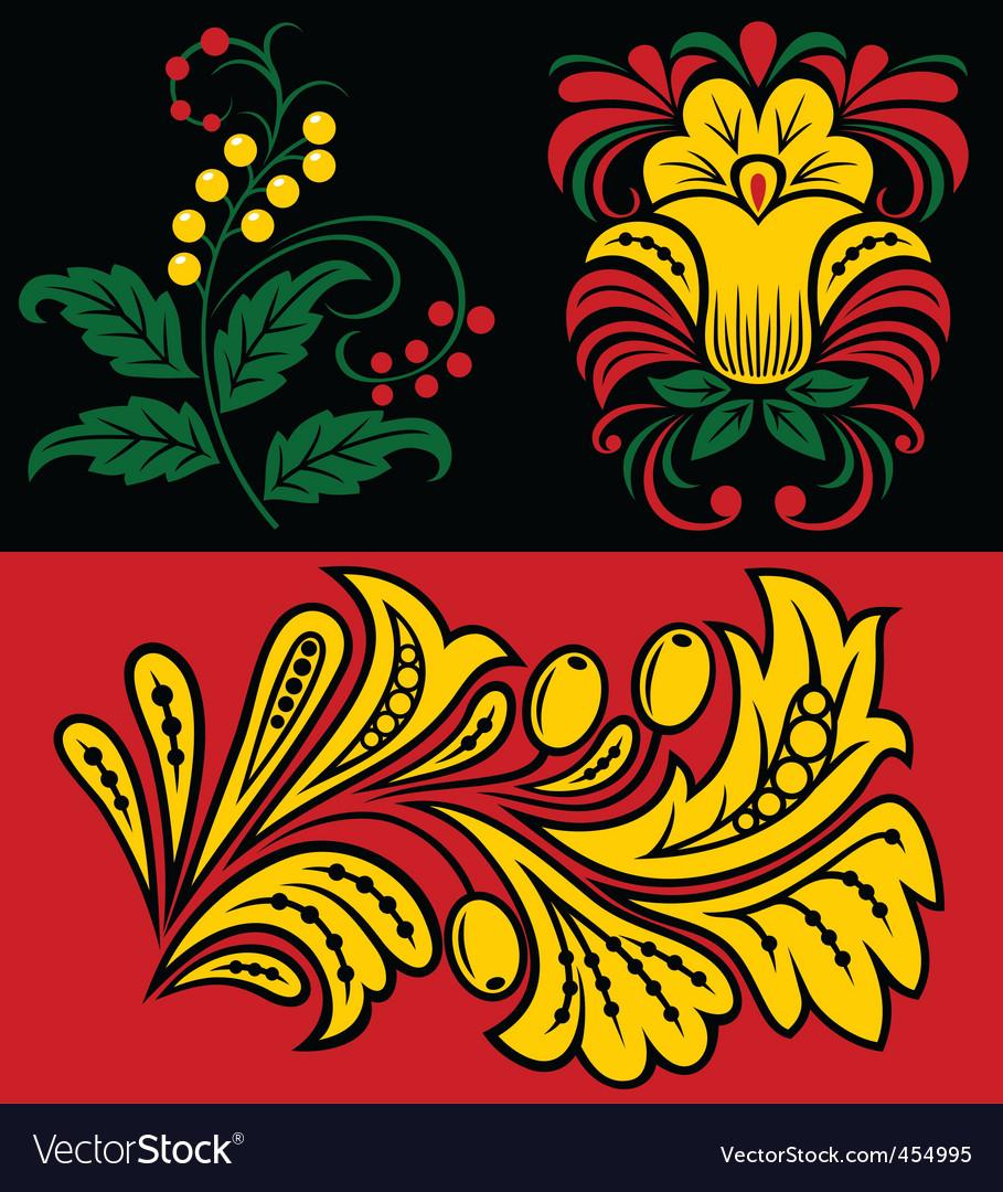 Vegetative pattern vector image