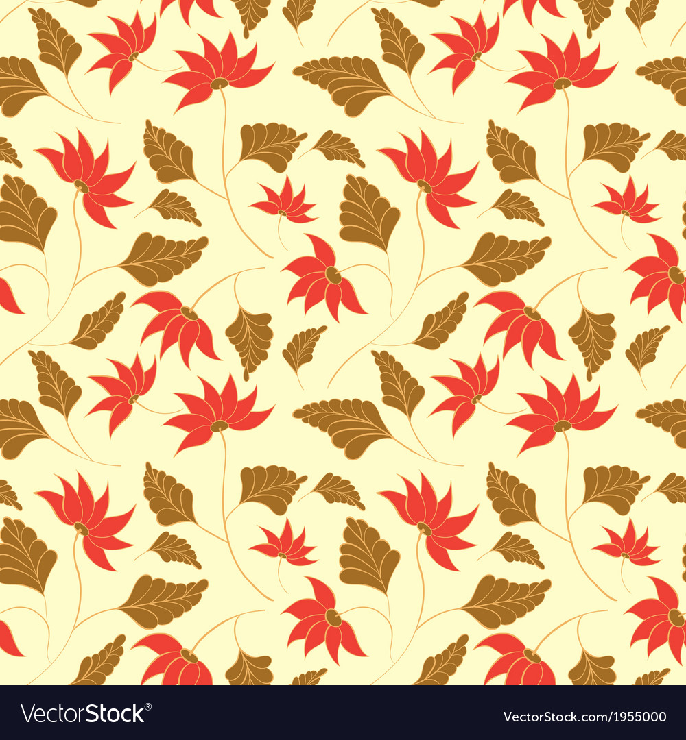 Beauty Flowers Seamless Pattern
