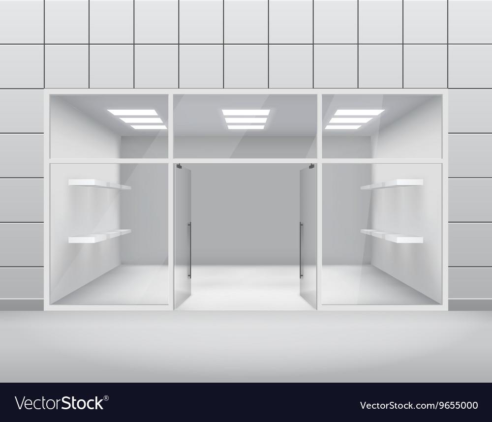 Open front door illustration Background Vectorstock Empty Shop Front Boutique Window And Open Door 3d Vector Image
