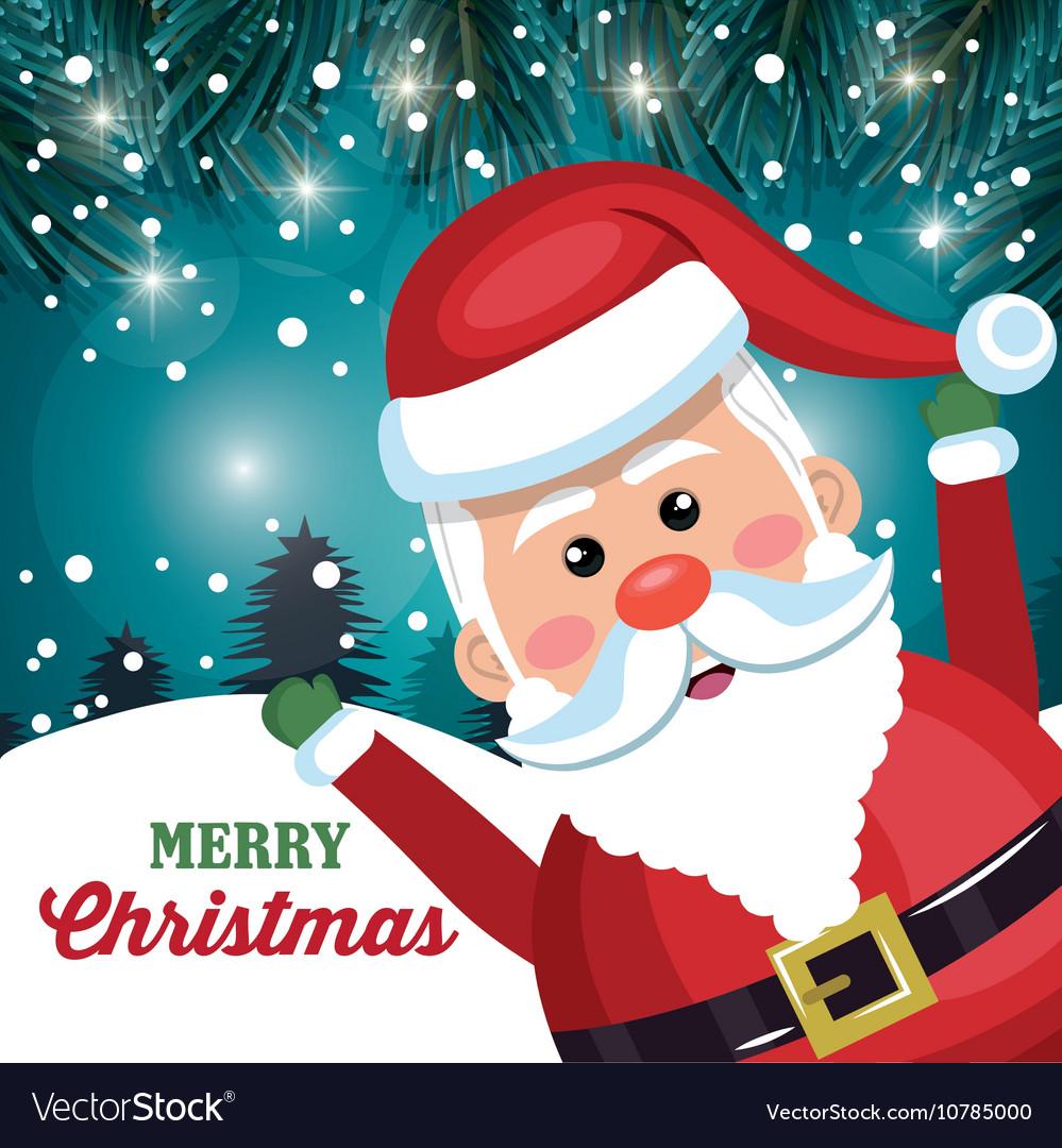 Funny Merry Christmas.Funny Santa Claus Card Merry Christmas Snowfall