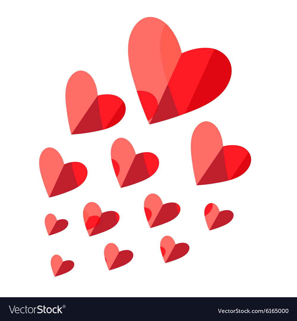 Heart with a lighted match flying vector image