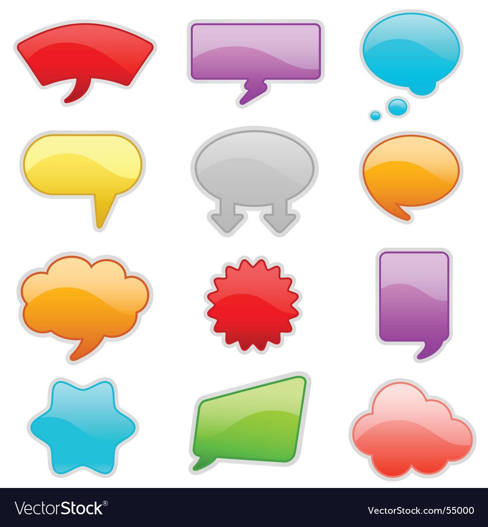 Message bubbles vector image