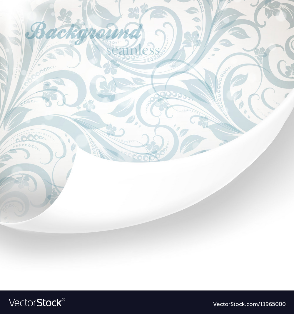 Pastel Floral Wallpaper Royalty Free Vector Image