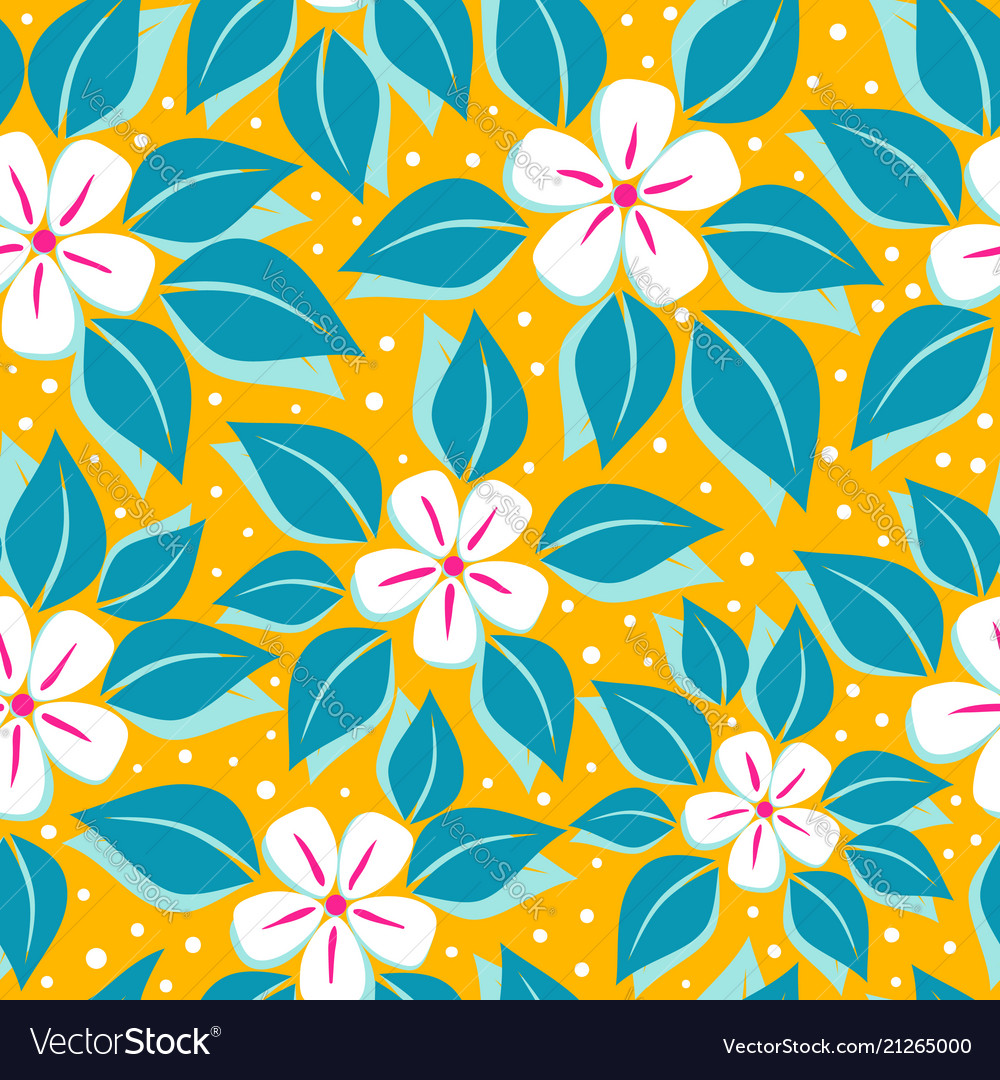 Pattern with tropical flowers