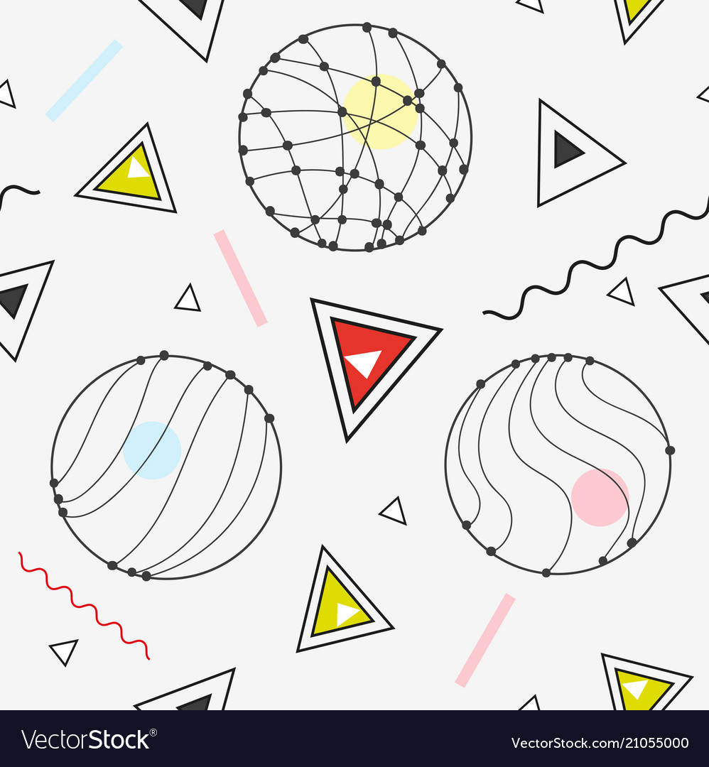 Seamless background in modern geometric abstract