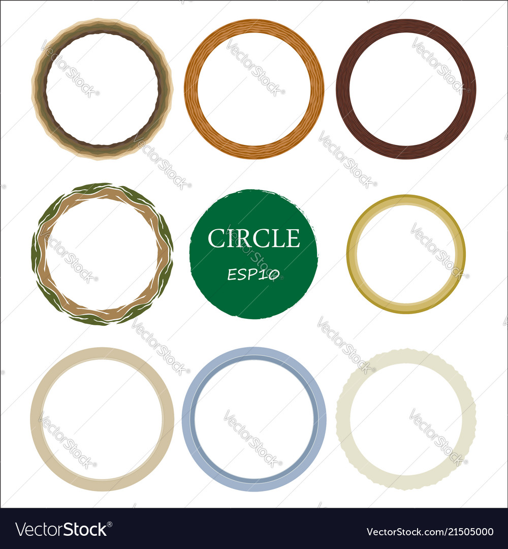 Set of hand drawn circles design elements