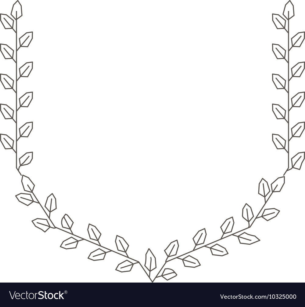 Wreath leafs crown isolated icon