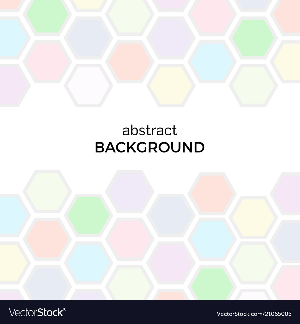 Abstract background with color hexagons elements