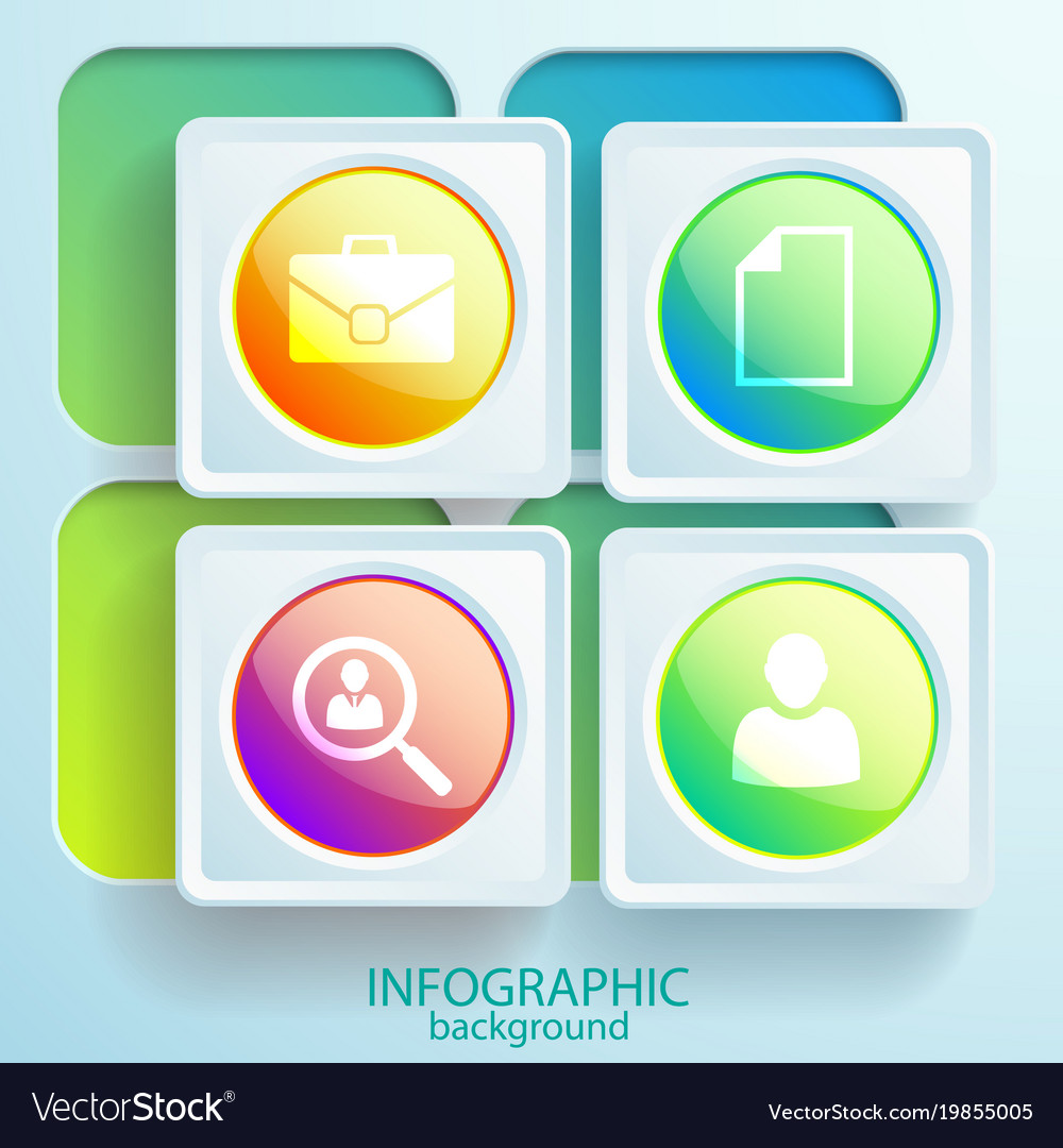 Abstract web infographic elements