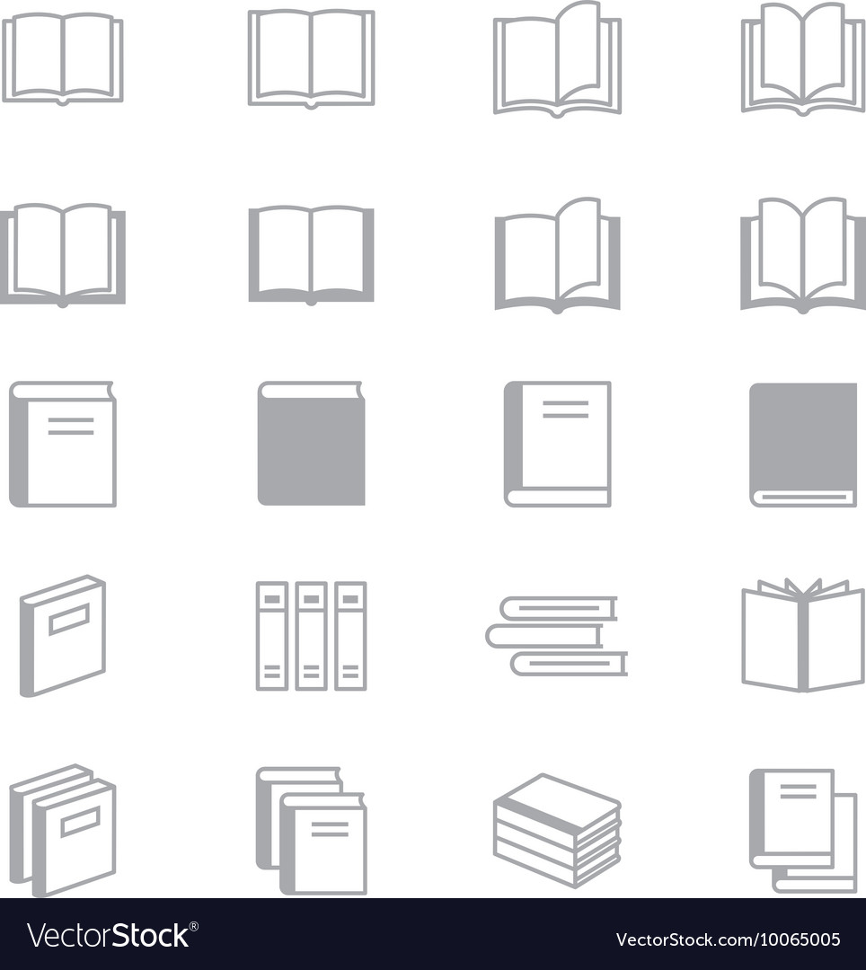 Book Icons Line Set Of Design copy vector image