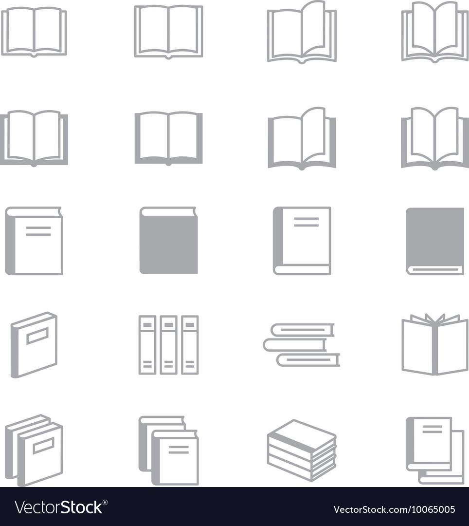Book Icons Line Set Of Design copy