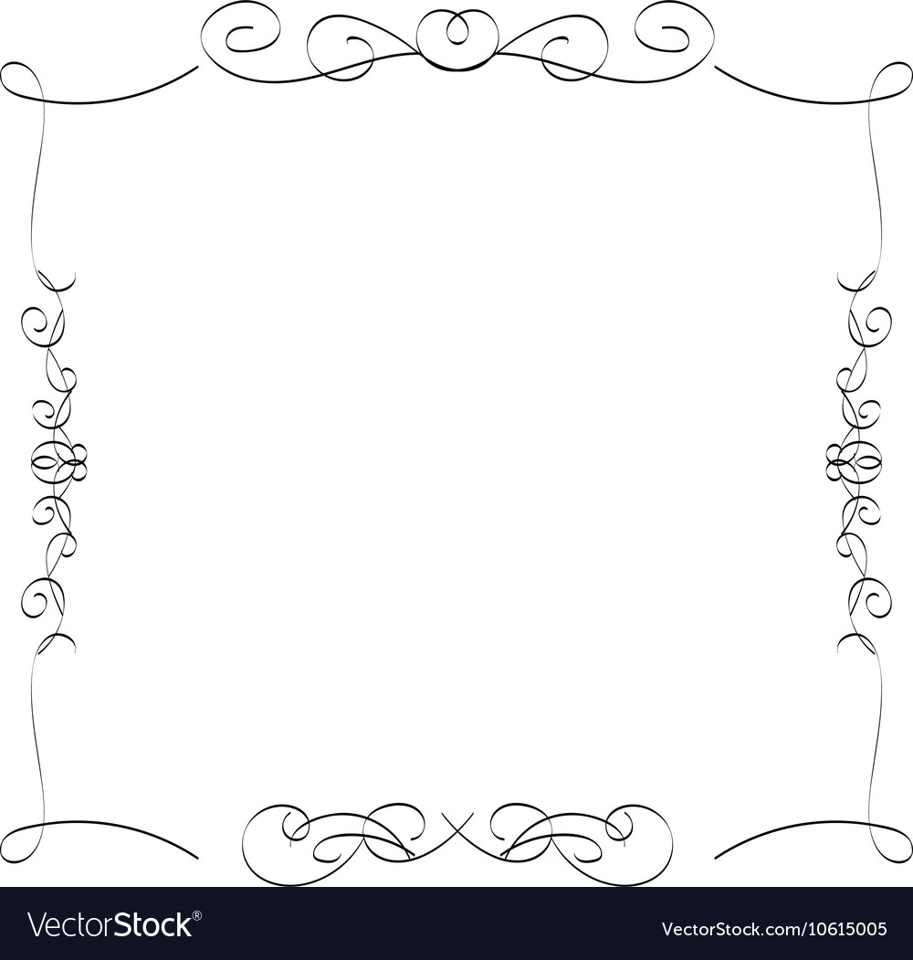 Calligraphic borders frames Royalty Free Vector Image