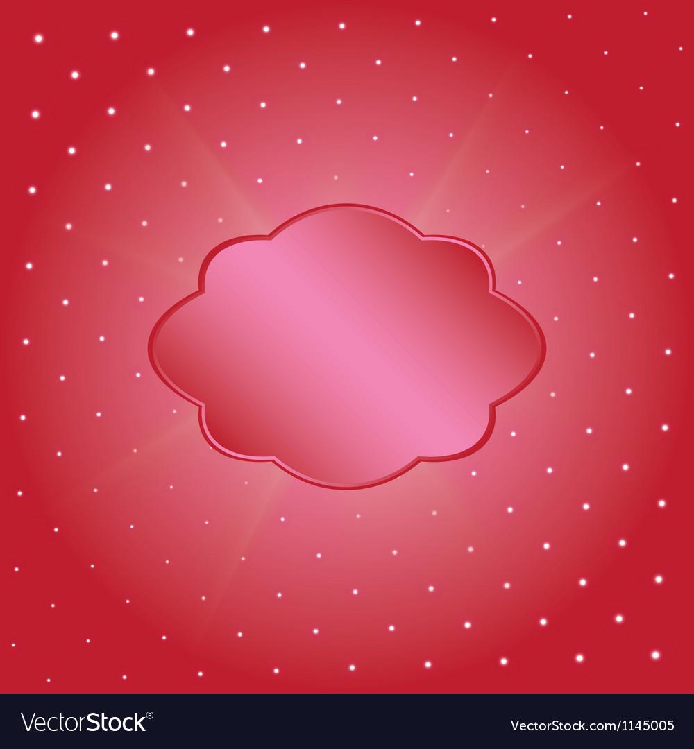 Crimson label vector image