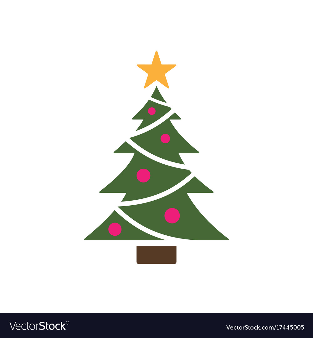 Christmas Tree Icon.Isolated Christmas Tree Icon With Star