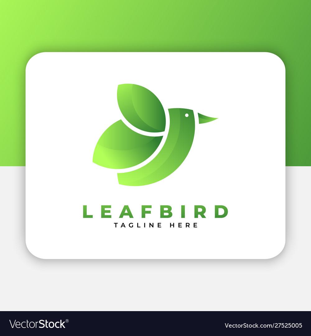 Leaf bird logo design inspiration
