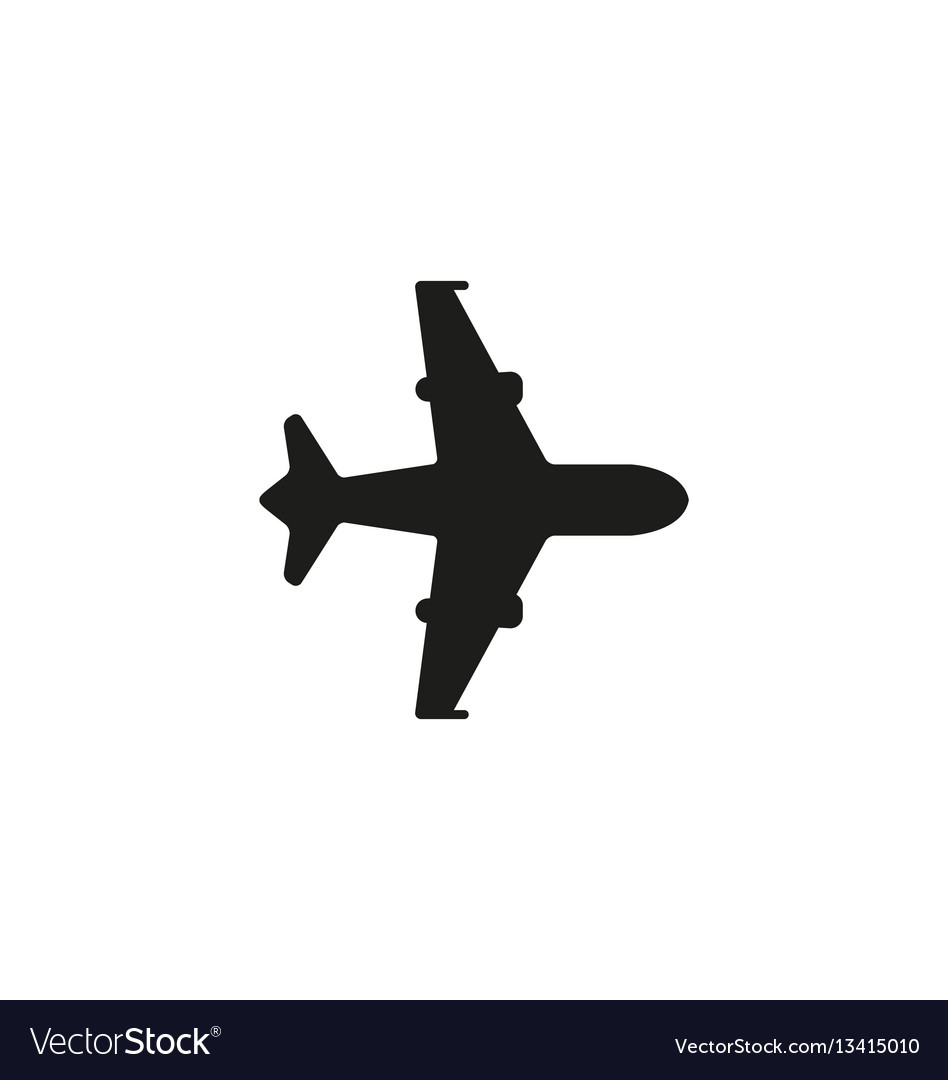 Air shipping symbol on white background