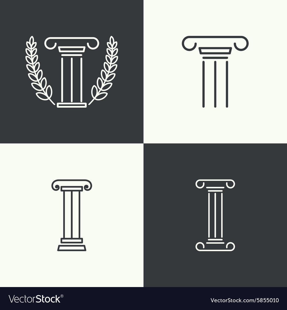 Antique column Pedestal vector image